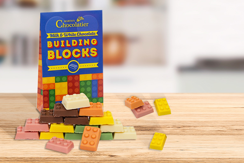 Milk & White Chocolate Building Blocks for £4.99