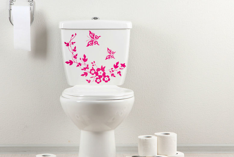 Floral Toilet Stickers for £2.99