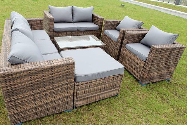 8 seater rattan garden furniture set 3 colours - Garden Furniture Colours