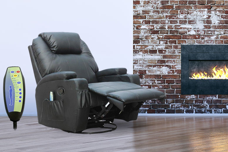 £179 instead of £474 (from Chic Me Out) for a reclining massage chair with 10 different features - choose red, black, brown or cream and save 62%