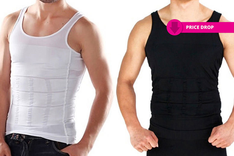 Men's 'Slimming' Vest – 2 Colours! for £7.99