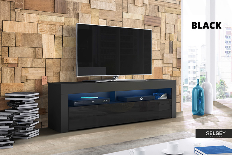 Alan TV Cabinet w/ LED Option – 4 Colours! from £79.00