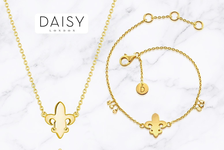 Daisy London Fleur-De-Lis Good Karma Jewellery Set- 2 Colours! for £39.00