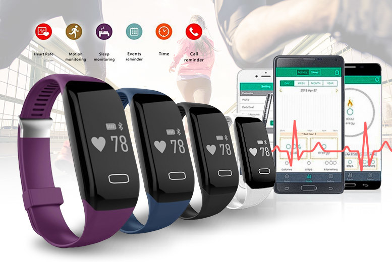 H3 Pro Fitness Tracker – 4 Colours! for £18.00