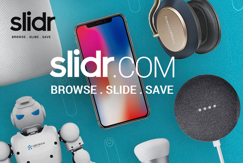 £5 for a £20 Spend at slidr.com on the Latest Apple, Samsung and Other Tech Gadgets! for £5.00