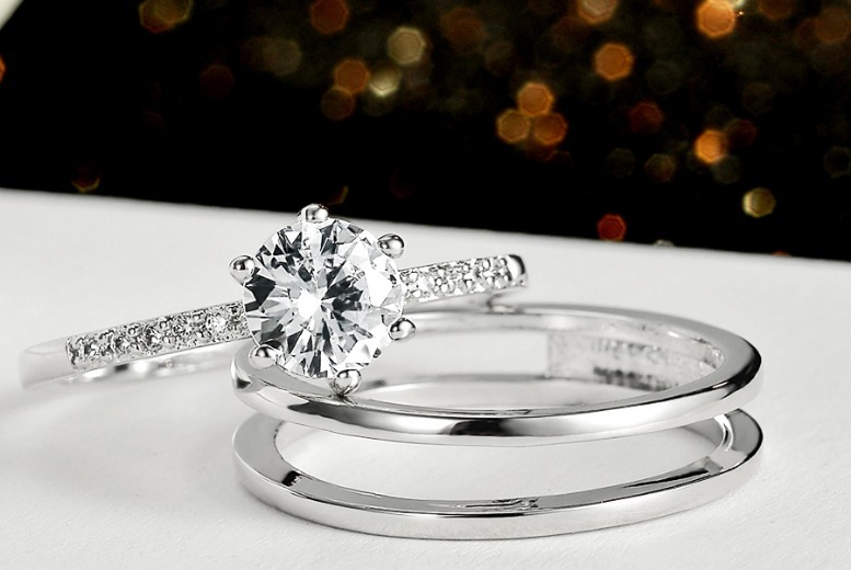 Silver Plated Double Ring Set for £10.99