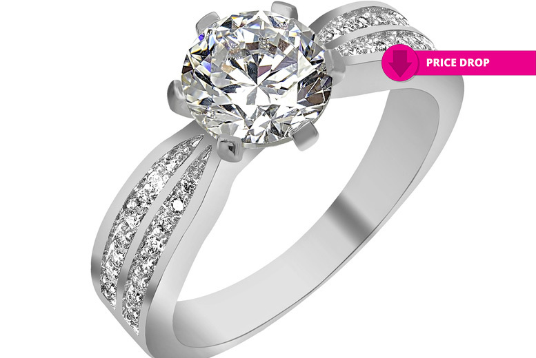 White Simulated Sapphire Ring for £7.99
