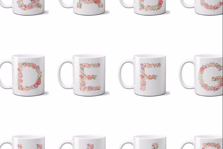 Floral Alphabet Monogram Mug for £5.99