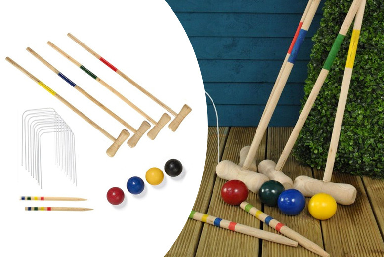 4-Player Wooden Croquet Set for £9.99