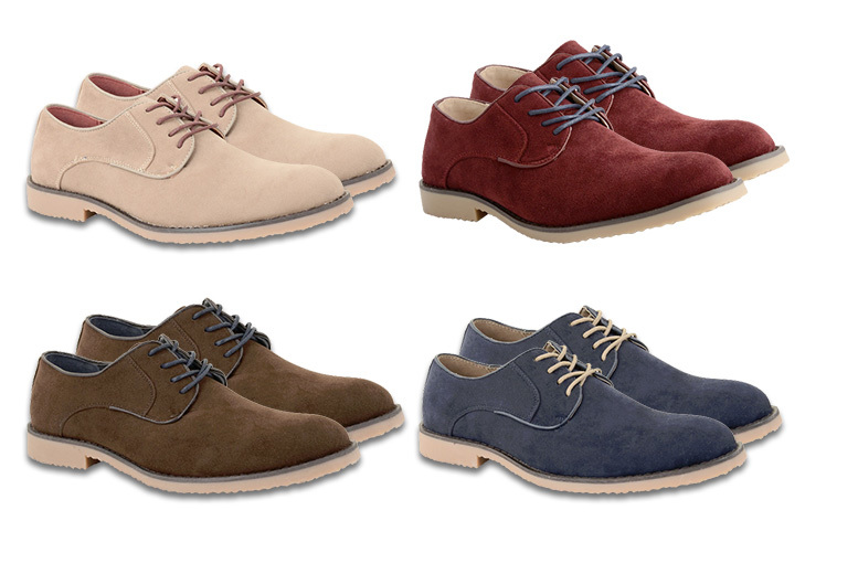 £12 instead of £41 (from Online Avenue) for a pair of men's faux suede Oxford brogues - choose from four colours and save 71%