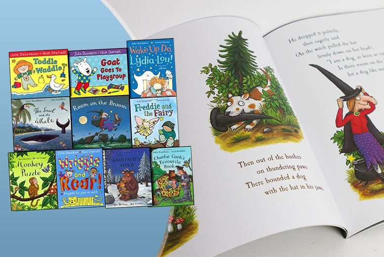 £14.99 instead of £60.91 (from Lowplex) for a Julia Donaldson 10-book set - your child will love them and you save 75%