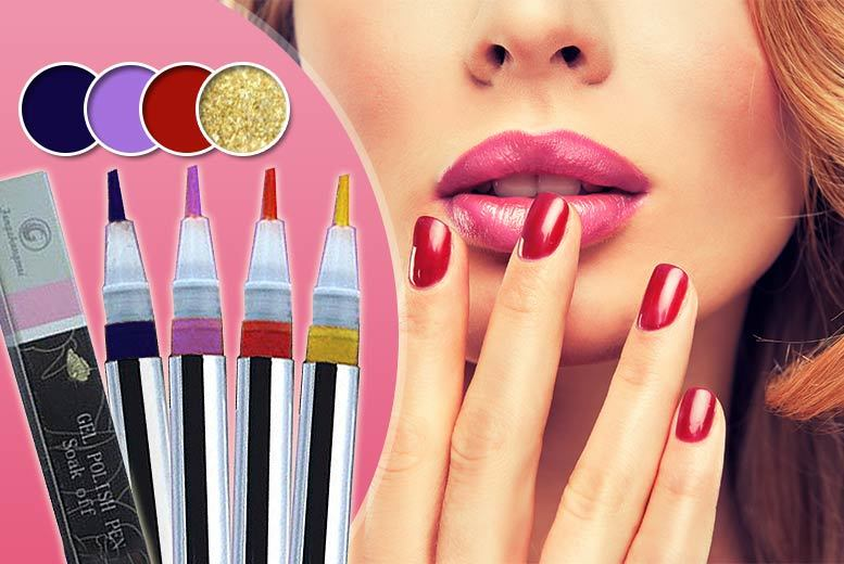 £6 instead of £39.98 (from Boni Caro) for a set of two nail gel lacquer pens, £10 for a set of four - choose from navy, lilac, red coral or gold and save up to 85%