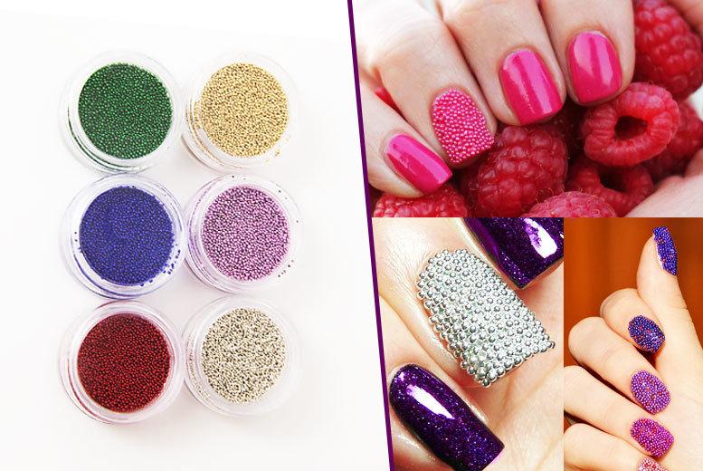 6 or 12 glam caviar nail colours