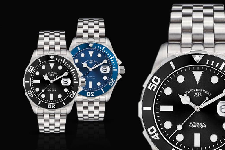 André Belfort Luxury Automatic Rolex-Style Diver's Watch – 5 Designs!