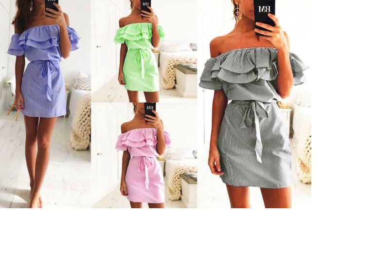 Boho Strapless Mini Dress – 4 Colours & UK Sizes 6-14! for £10.00