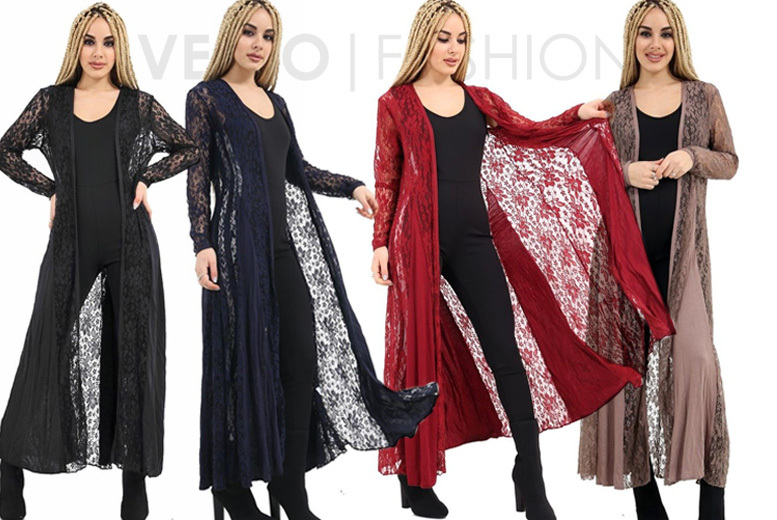 Lace Maxi Cardigan – 6 Colours! for £9.99