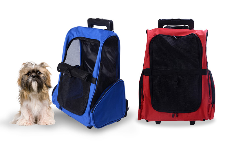 Pet Travel Backpack With Wheels – 2 Colours! for £19.99