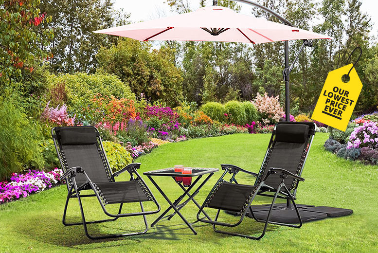 2 Zero Gravity Reclining Lounger Chairs for £44.99