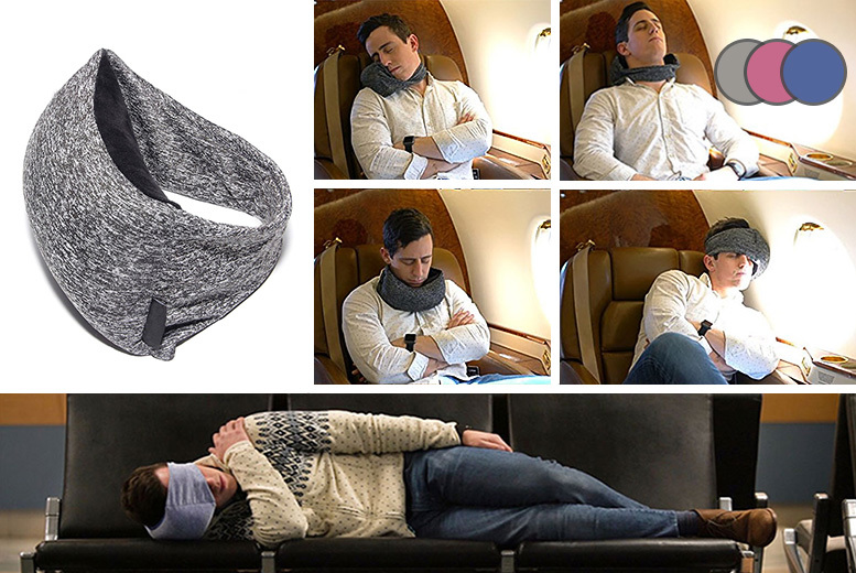 2-in-1 Travel Pillow & Eye Mask – 3 Colours! from £8.99