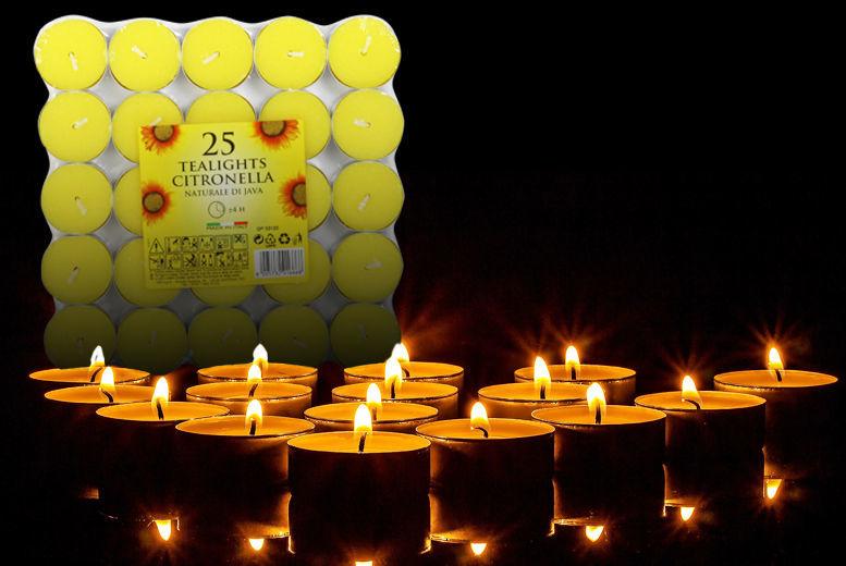 Citronella or Provence Tea Lights for £2.00