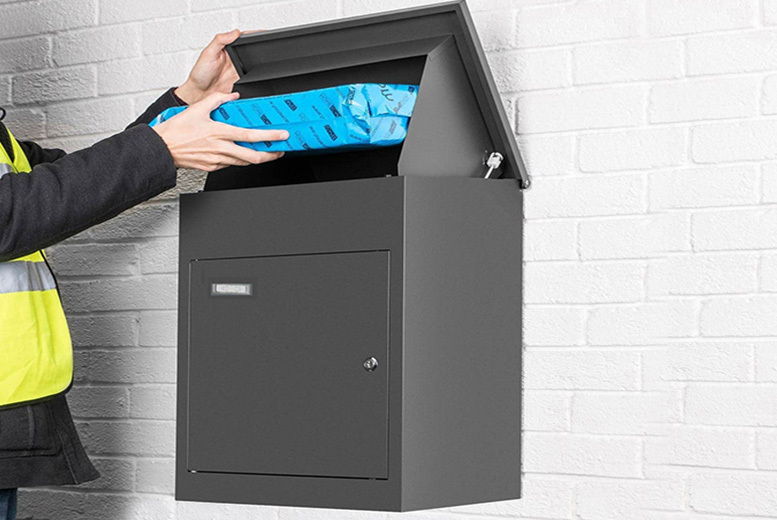 Smart Lockable Galvanised Steel Parcel Box – 2 Sizes! from £69.00