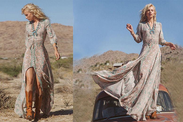 Bohemian 'Aspen' Maxi Dress – UK Sizes 10-16! for £14.99