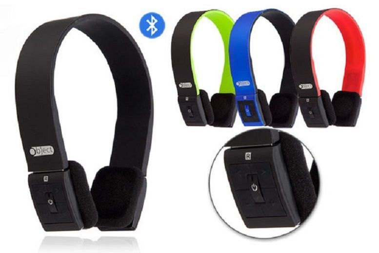 Bluetooth Over-Ear Headphones – 4 Colours! for £12.00