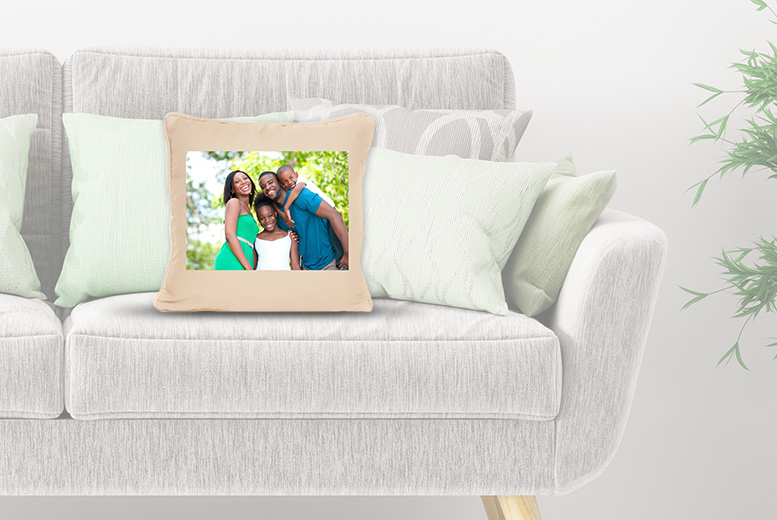 Personalised Photo Cushion for £9.99