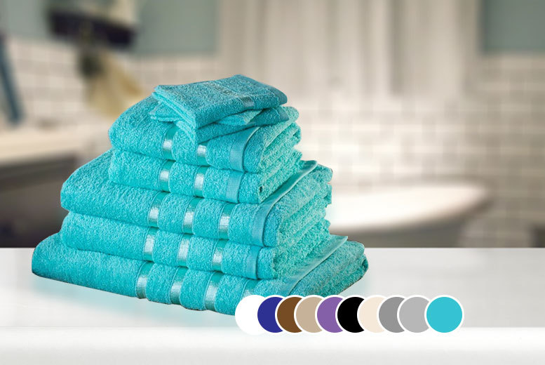 £12.99 instead of £79.99 (from Groundlevel) for eight Egyptian cotton towels - choose from ten colours and save 84%