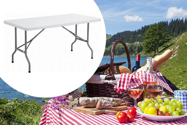 £29 instead of £95 (from Product Mania) for a six-foot outdoor folding table - save 69%