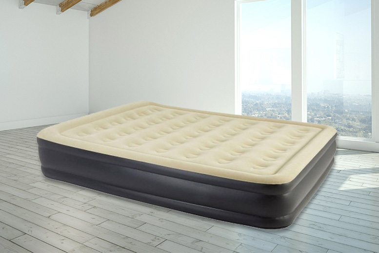 Inflatable High-Raised Air Bed - 2 Sizes!