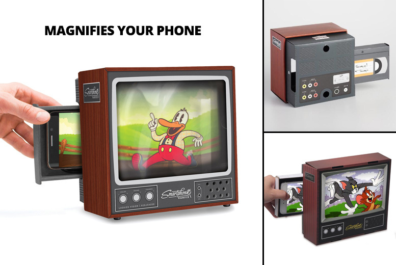 Classic Retro TV-Style Phone Screen Magnifier for £6.99