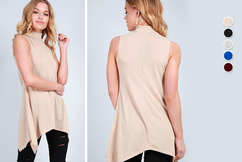 Turtle Neck Swing Top – 5 Colours & UK Sizes 8-26! for £6.00
