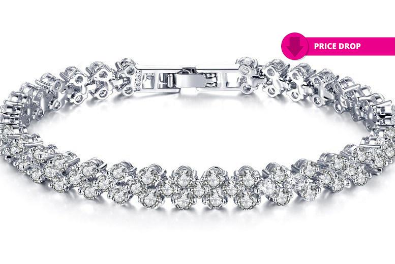Clear Studded Multi-Link Bracelet