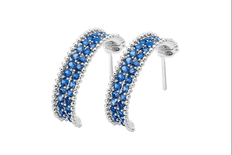 Silver-Plated Blue Earrings for £11.99