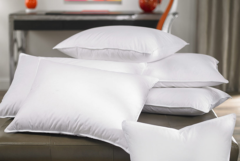 4 Luxury Duck Feather & Down Pillows for £16.00