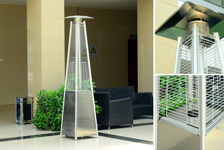 13kw Stainless Steel Pyramid Patio Heater for £169.00
