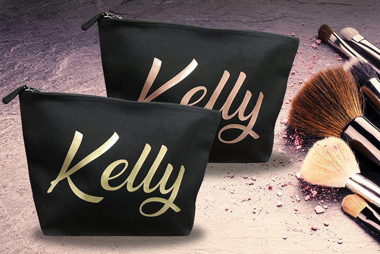 Personalised Cosmetics Bag – 3 Colours! for £5.00
