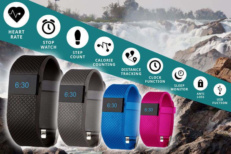 Next-Gen' 8-in-1 TW64s Bluetooth Sports Activity Bracelet for £19.99