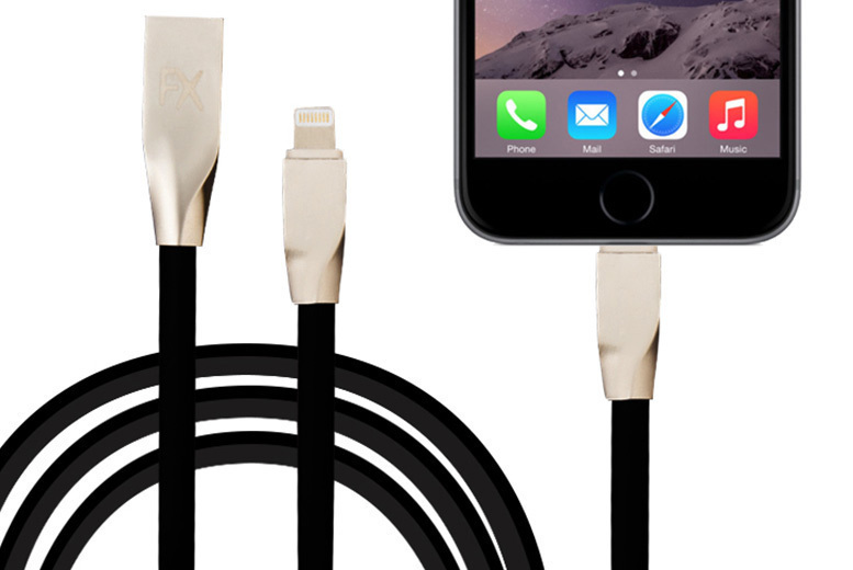 1m, 2m or 3m Anti-Tangle 8-Pin iPhone Charging Cable from £3.99