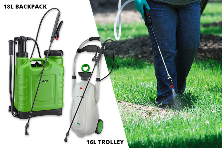 High Pressure Weed-Sprayer Backpack or Trolley from £19.99