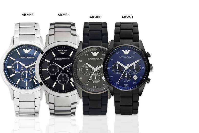 £139 instead of up to £349 (from Gray Kingdom) for a men's Emporio Armani watch – choose from four designs and save up to 60%