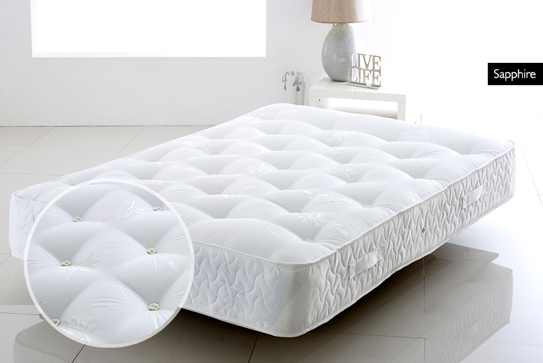 £169 (from Cheap Mattress) for a single quartz or sapphire pocket sprung mattress, £199 for a small double or double mattress, £229 for a king mattress - save up to 79%