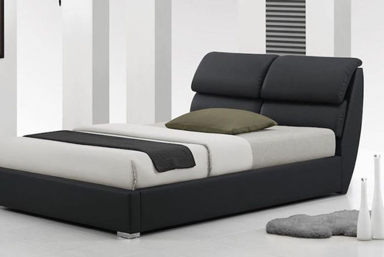 Libretto Leather Bed with Optional Memory or Spring Mattress!