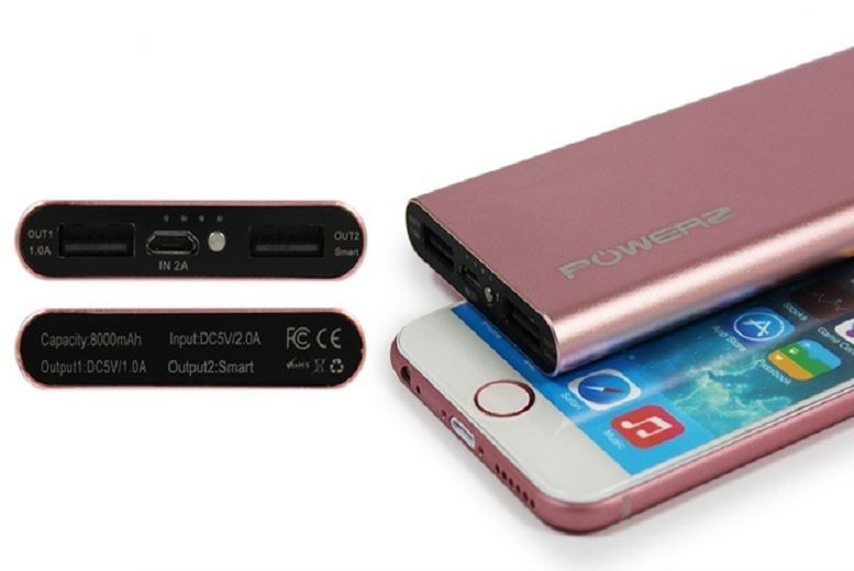 8000mAh Power-Bank – 4 Colours! from £16.99