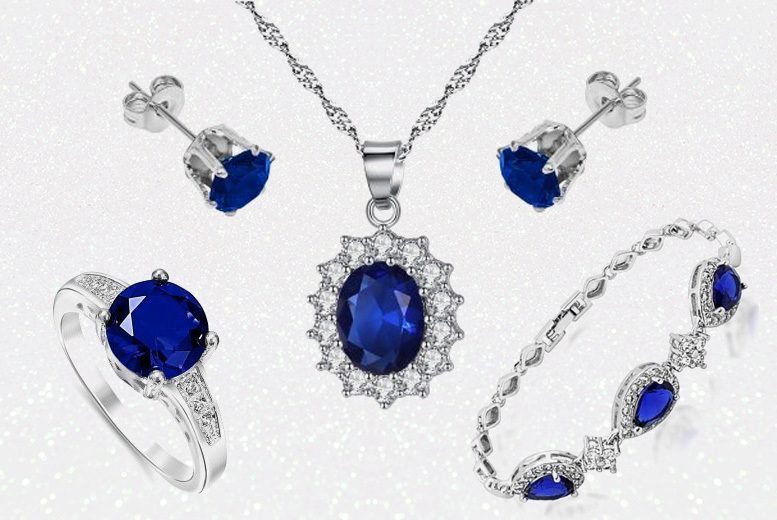 Blue Crystal Jewellery Set for £19.99