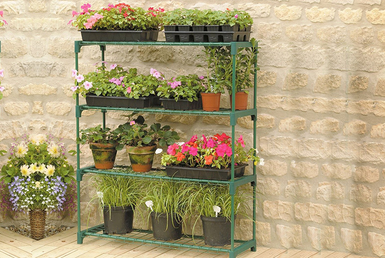 4-Tier Garden or Greenhouse Shelving Unit for £16.99