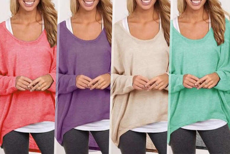 £8 instead of £29.99 (from EFMall) for a an oversized slouch jumper - choose from four colours and save 73%