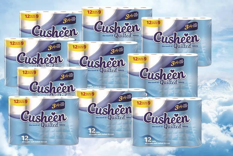 60 or 120 Cusheen 3ply Quilted Toilet Rolls from £14.00