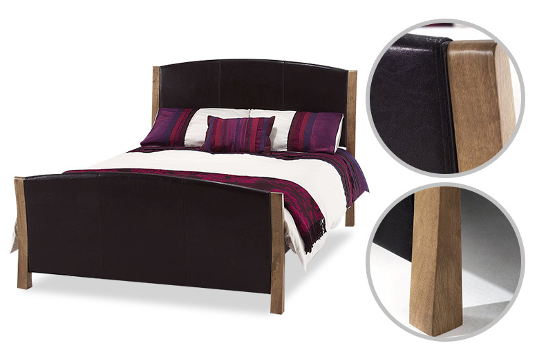 Palermo Faux Leather Bed - 3 Sizes!